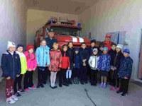 Экскурсия в пожарную часть 4 и 2 класс